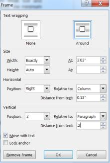Word_table frame B