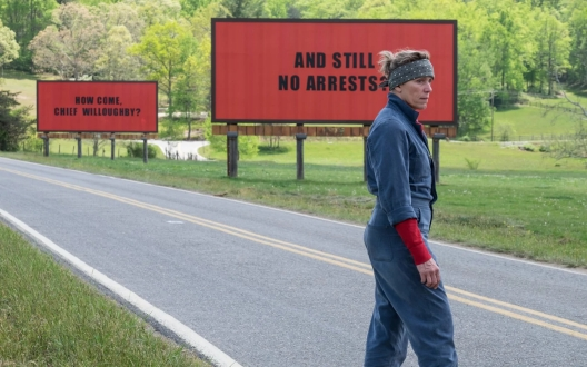 Three billboards outside