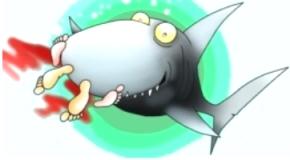 shark eating human