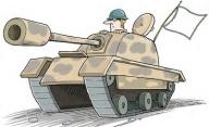 tank-white flag