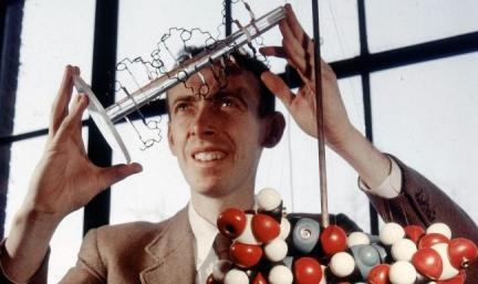 James Watson with ADN model, 1957